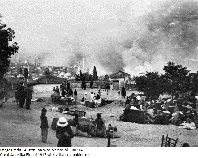 salonika-fire-with-villagers-looking-on-b02141
