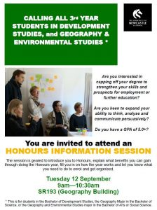 Honours Information Session Coming Soon