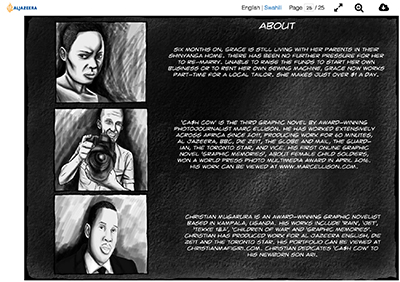Graphic novel team credits